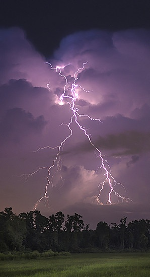 Pictures of a lightning storm that came through the Wilmington, NC area.