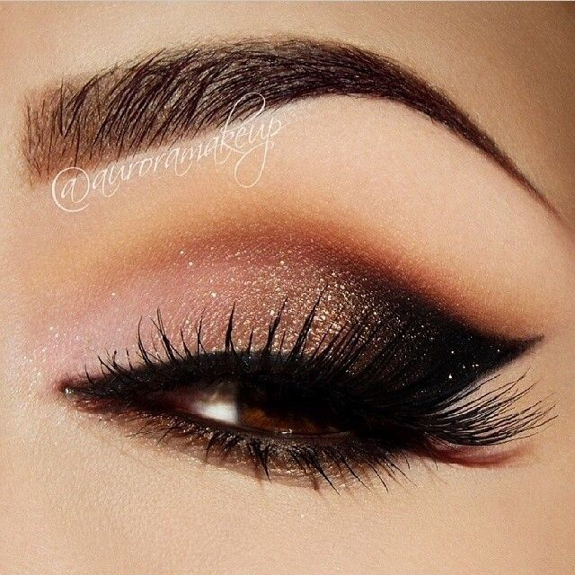 smokey rose #makeup #face #shimmer #eyes #shadow #brows #sexy #evening #night