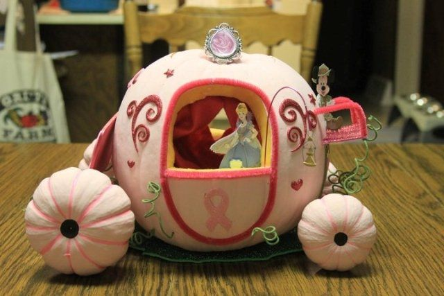 Cinderella's Pumpkin Carriage fairytale cinderella pumpkin halloween jack o lantern pumpkins halloween crafts halloween decorations jack o lantern ideas