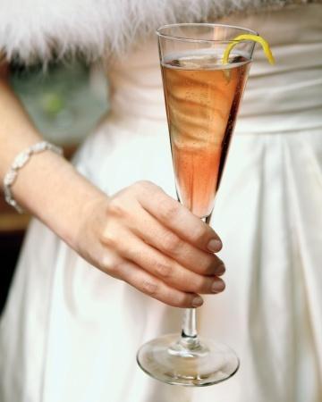 Kir Royale with a lemon twistSignature Drinks, Wine Parties, Kir Royal, Lemon Twists, Wedding Drinks, Signature Cocktails, New Years Eve, Seattle Washington, Champagne Flute