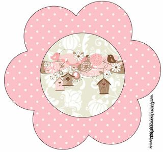 Passarinhos E Flores Kit Completo Com Molduras Para