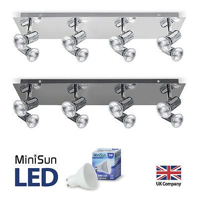 Large modern chrome 8 way led gu10 #ceiling #spotlight spot light #fitting lights, View more on the LINK: http://www.zeppy.io/product/gb/2/231546284026/