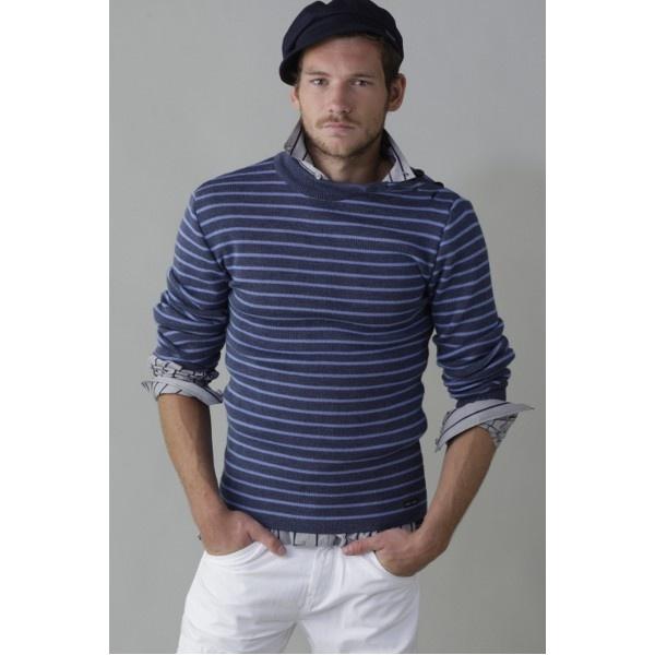 Nautical cap saint james matelot r seaman sweater black for St james striped shirt