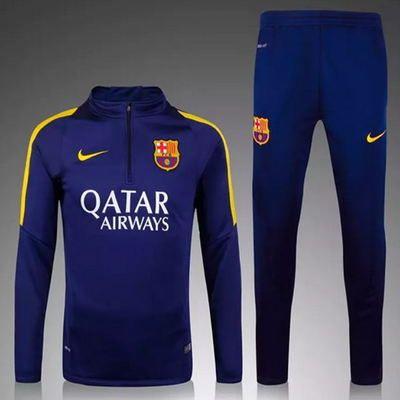 Survetement de foot Barcelone Haut d'entraînement 2016 blue