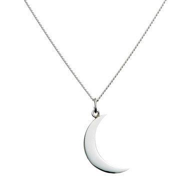 Big Moon Necklace, 60 cm, silver