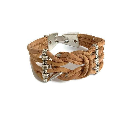 Cork bracelet Portugal knot bracelet cork knot braceelt