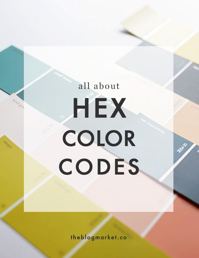 How to use Hex Color Codes | The Blog Market