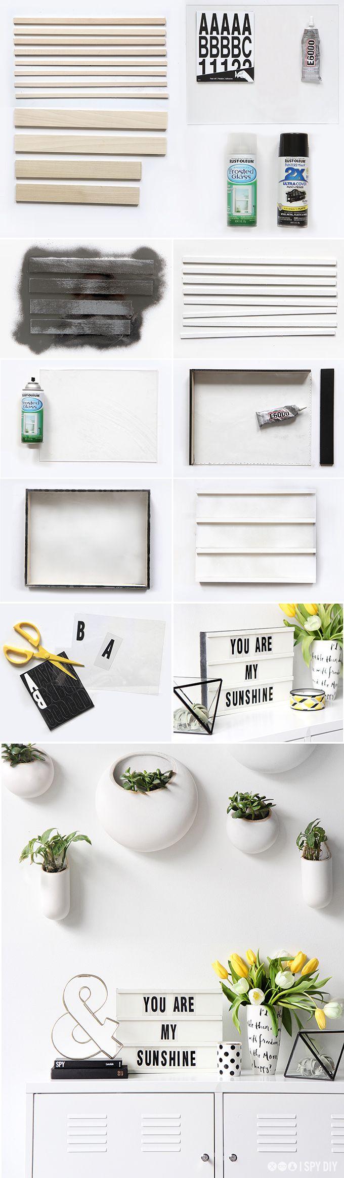» MY DIY | Light Box Message Board