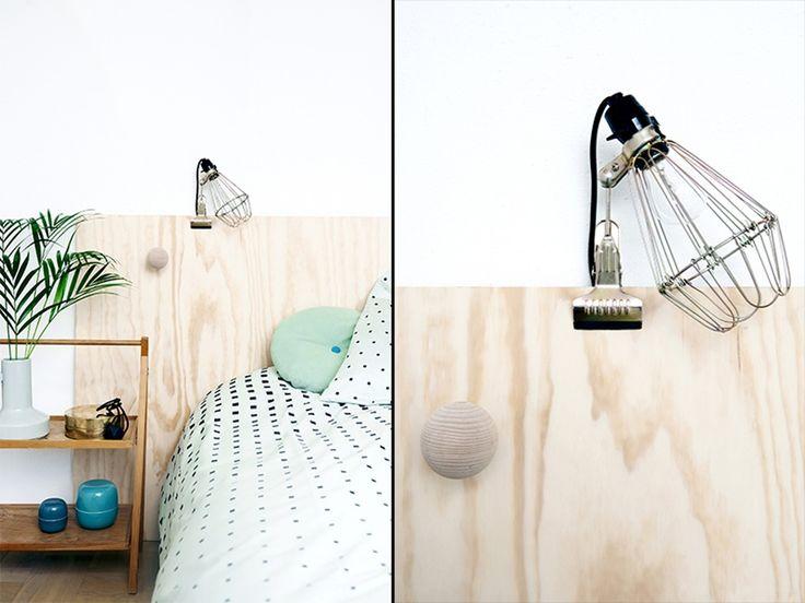 Fin i finerGå for en naturlig og nordisk stil på soverommet. Denne dekorative sengegavlen er laget av en finerplate - superenkelt!