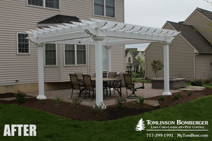 Attractive AFTER Picture Of The New Patio, Pergola, Fire Pit, And Plantings We Designed