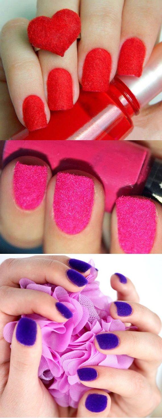Velvet Nail Art Designs