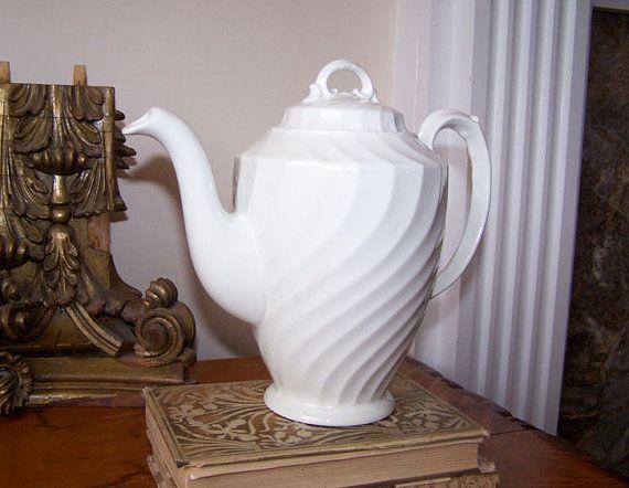 English Ironstone White Teapot Burgess and Leigh Burslem