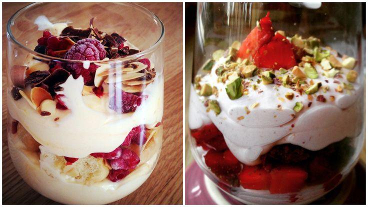 2 kedvenc pohárkrém: málnás-citromos trifle és epres-vaníliás mascarpone hab