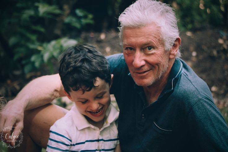 A boy and his grandfather - family photography