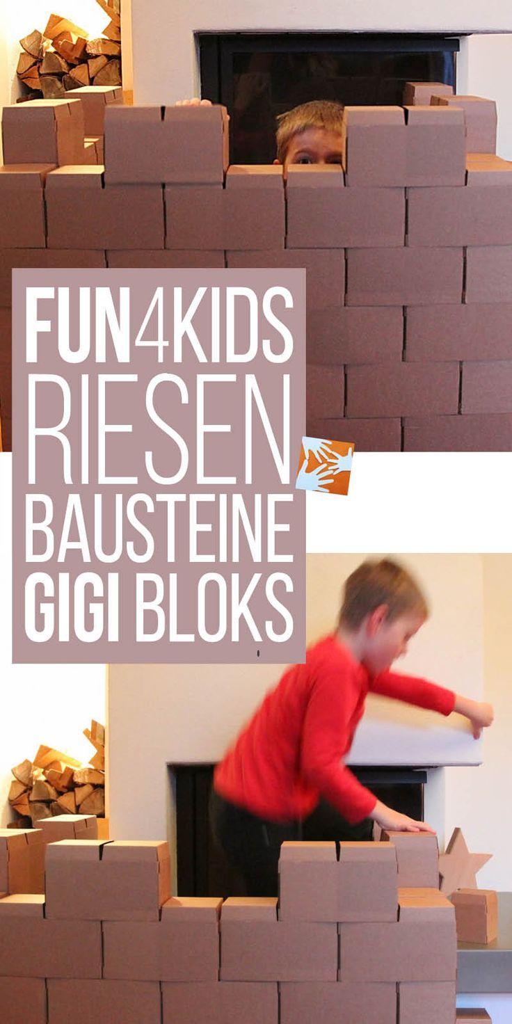 Fun 4 Kids - das macht Spaß und fördert die Kreativität: Riesen-Bausteine aus Pappe GIGI Bloks | Muttis Nähkästchen