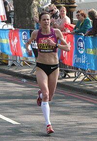 Jo Pavey, London Marathon 2011. Born in Honiton, Devon - Wikipedia entry.