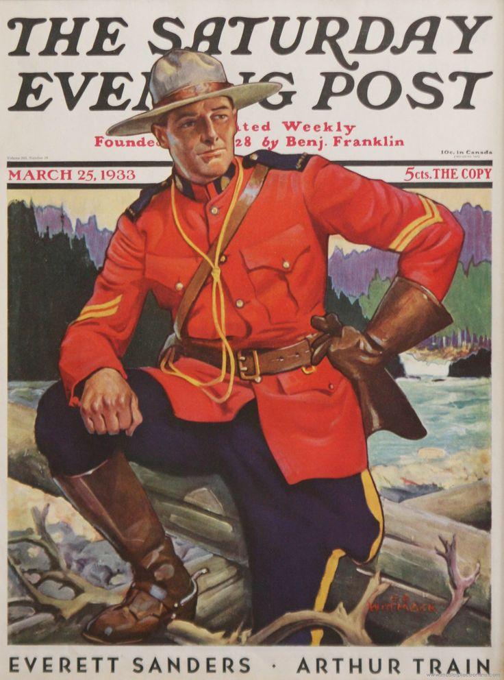 Canadian Mountie. Saturday Evening Post, March 25, 1933 (Edgar Franklin Wittmack)