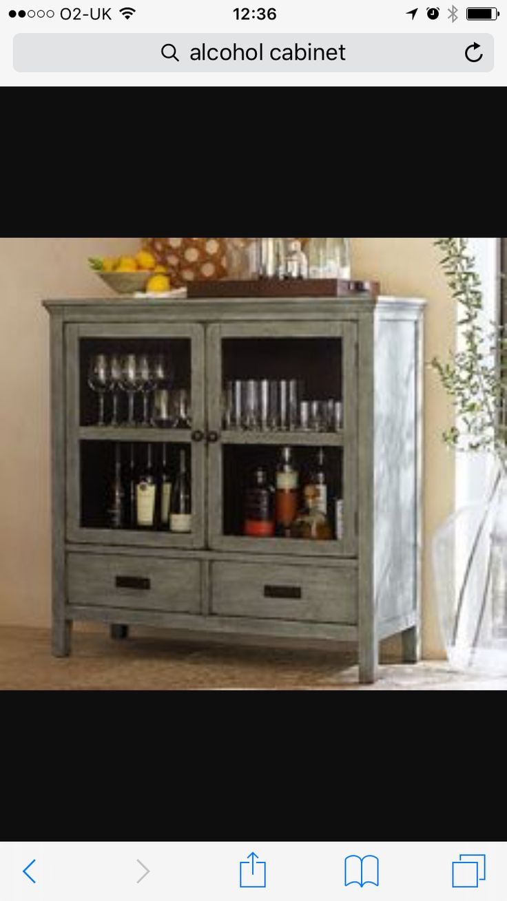 Alcohol cabinet idea