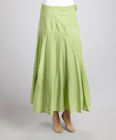 Loving this Green Pleated Skirt on #zulily! #zulilyfinds
