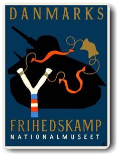 Arne Ungermann Frihedskamp poster for the National Museum