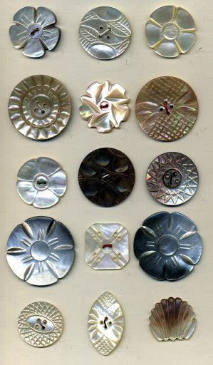 vintage iridescent shell buttons ...little works of art