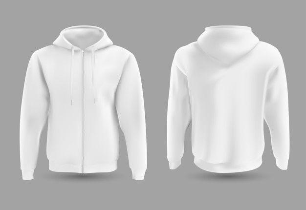 Download Hoodie Branco Dianteiro E Traseiro White Hoodie Custom Clothes Hoodie Mockup Free