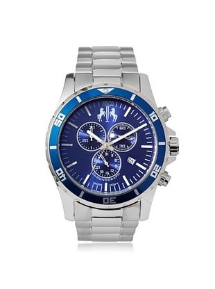 66% OFF Jivago Men's JV6127 Ultimate Silver/Blue Stainless Steel Watch