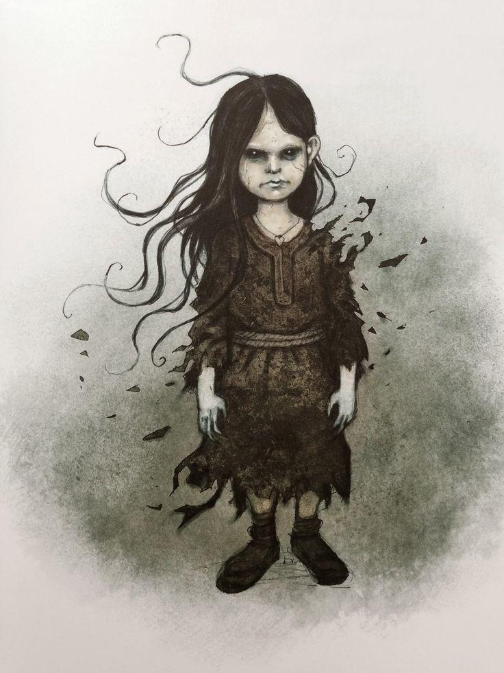 Myling (the restless spirit of an unbaptized child, Swedish folklore) by Johan Egerkrans
