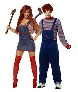Halloween Howl: Couple Halloween Costume Ideas - Scary - Chucky Child's Play his and hers costume