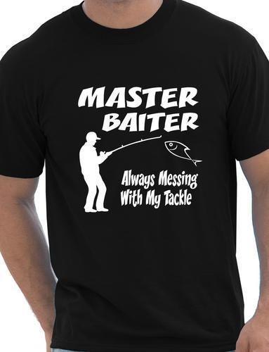 Master-Baiter-Funny-Fishing-T-shirt-Rude-Mens-T-Shirt-Size-S-XXL