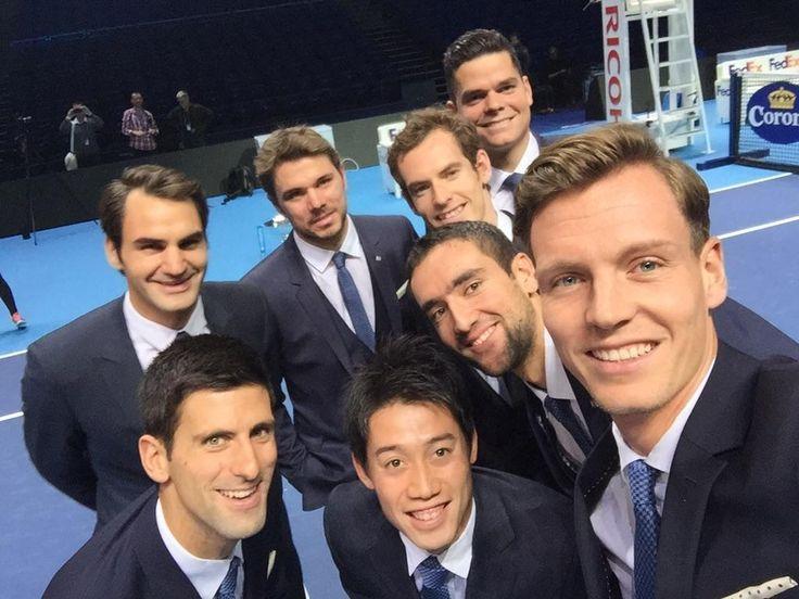 The best Tennis selfie? Championfies featuring all 8 participants of World Tour Finals