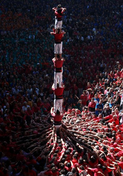 Human Towers Are Built In The 22nd Tarragona Castells Competition. October 5, 2008 - Source: Jasper Juinen/Getty Images Europe