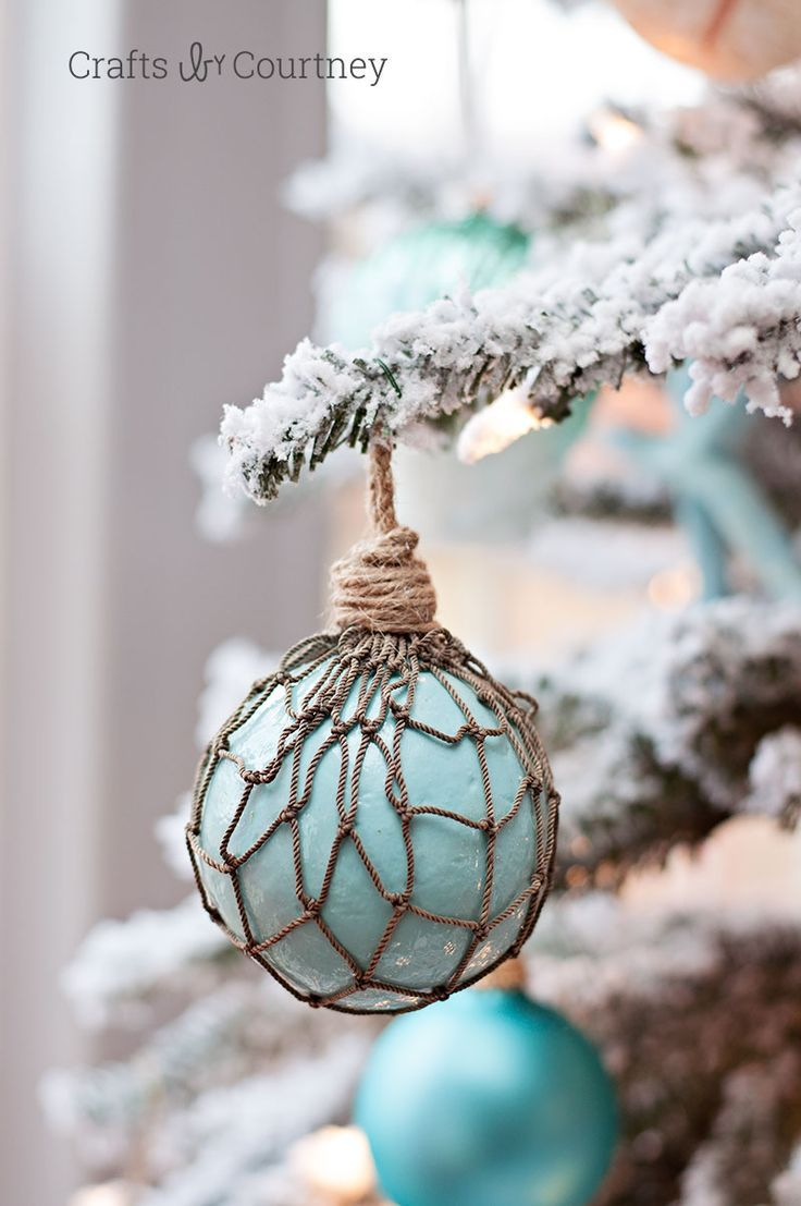 "Creating unique Coastal DIY Christmas ornaments for my tree is what I love.  I love the feel of a Coastal Christmas.  I also loved creating the ""Faux"" Glass Floats, Christmas ornaments!"