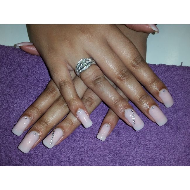 Natural Pink nails done on Sashika Somai The Nail Factor!