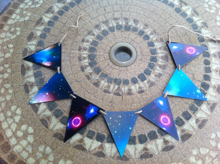 Printable Stars Galaxies Pennant Bunting Outer Space Geek Home Decor Diy Project Bohemian