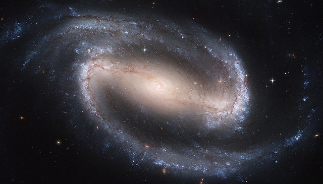 Barred Spiral Galaxy, via Flickr.