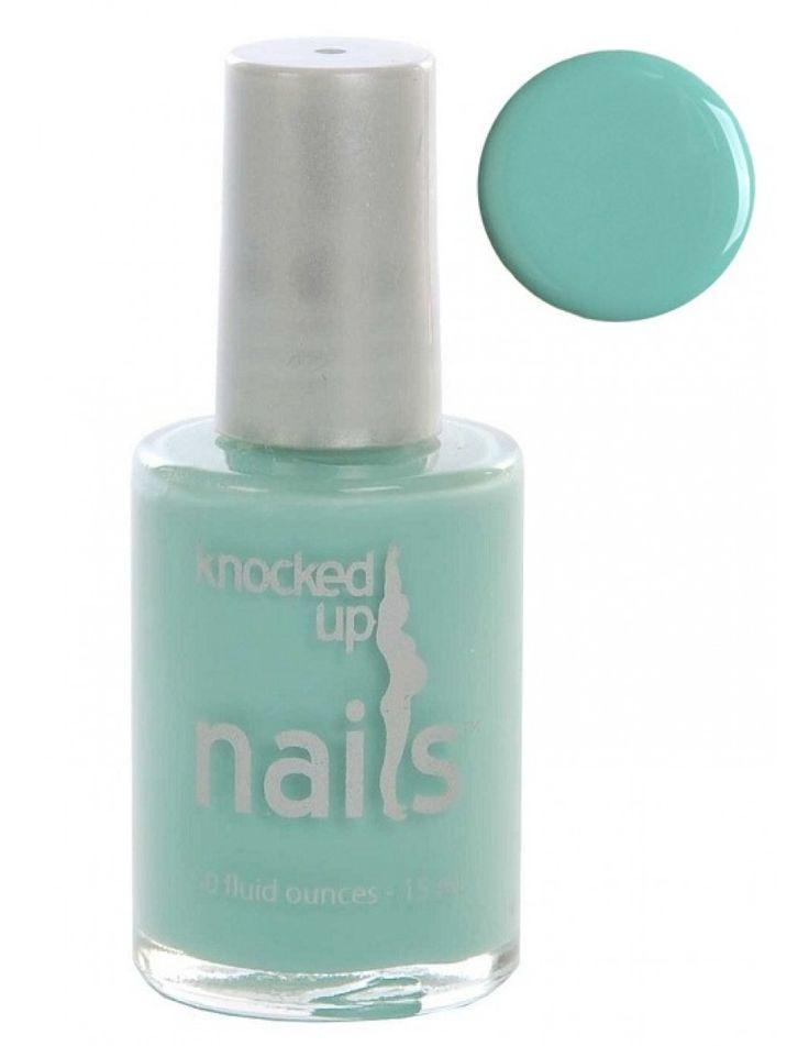Maternity Safe Nail Polish – Nail for Pregnancy – Creme Light Blue : Knocked Up Nails