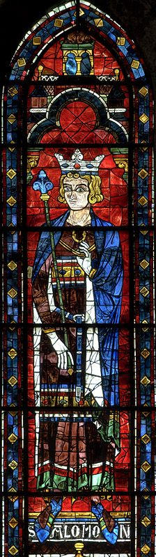 121 - The North Transept Rose Panel D2 - King Solomon                                                       Panel D2 - King Solomon - Chartres Cathedral