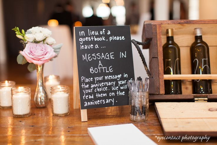 "How about sending your loved one a ""message in a bottle?"" Beautiful rustic details. photo: www.eyecontact.ca"