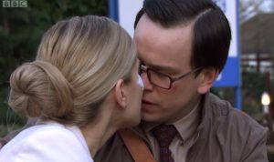 Holby City (15/41) Digby was finally rewarded for his devotion with a kiss.