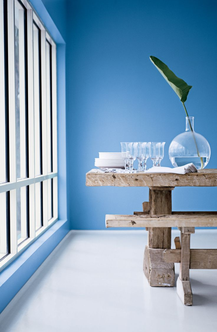 Ralph Lauren Paint's Casino Blue recalls the brightness of a crystal clear  sky. From the Harbor Blues palette.