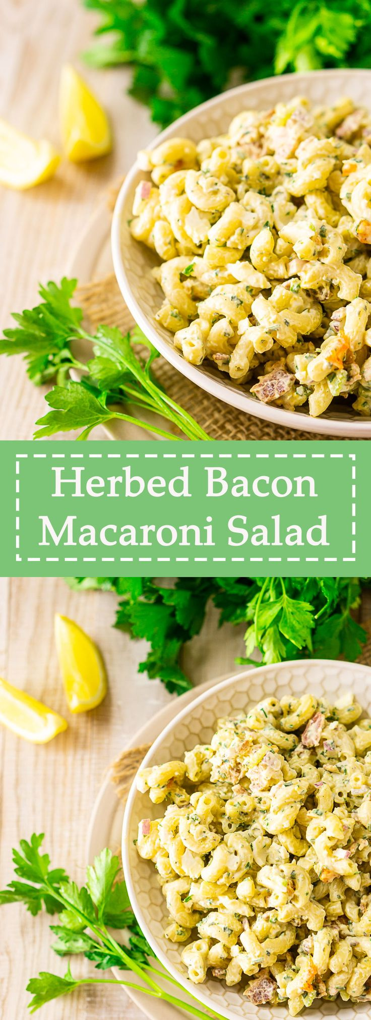 Looking for a twist on your classic macaroni salad? You'll love this herbed bacon macaroni salad! Featuring a homemade,…