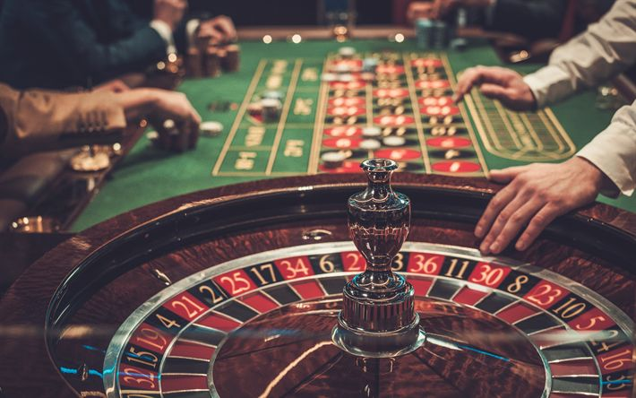 Download wallpapers casino, roulette, table, chips, casino concepts, 4k