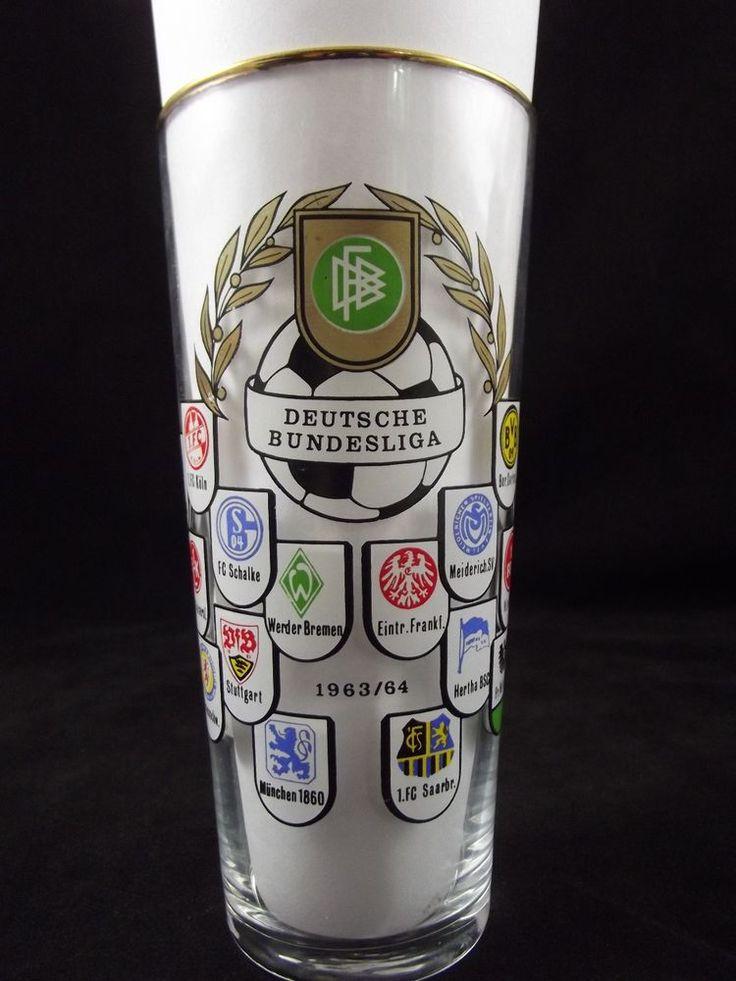 Vintage German Federal League- Deutsche Bundesliga  1963/1964 Football Glass HTF