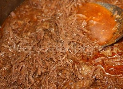 Authentic Mexican Shredded Beef Tacos - (Slow Cooker add 3 cups of water with seasonings)