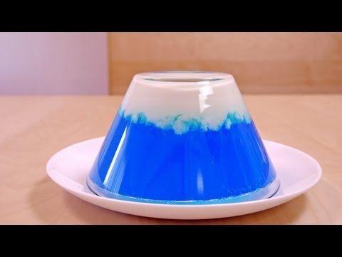 祝 世界遺産登録 富士山ゼリー Mt. Fuji Jelly Recipe