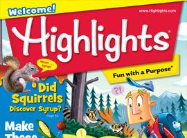 NEW. Highlights kids is a great resource to find reading material for students, including visual and auditory aids.