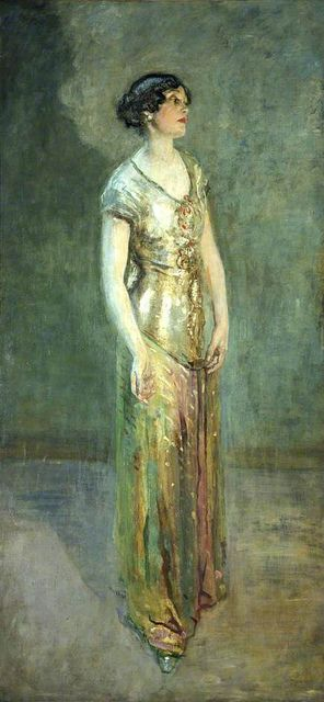Ambrose McEvoy  Mrs. Cecil Baring, 1876-1922, c.1927: Ambrose Mcevoy, Portraits Paintings, Ambro Mcevoy, Mcevoy Paintings, Portraits Women, Art Deco, Paintings Women, Cecil Bare, Art Galleries