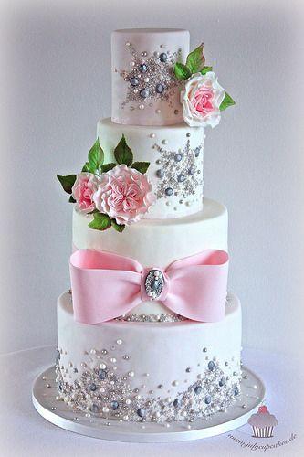 www.cakecoachonline.com - sharing... Jeweled Wedding Cake