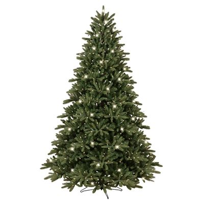 GE 7.5-ft Pre-Lit Easy Shape Frasier Fir Green Artificial Christmas Tree with 700-Count Color Changing LED Lights